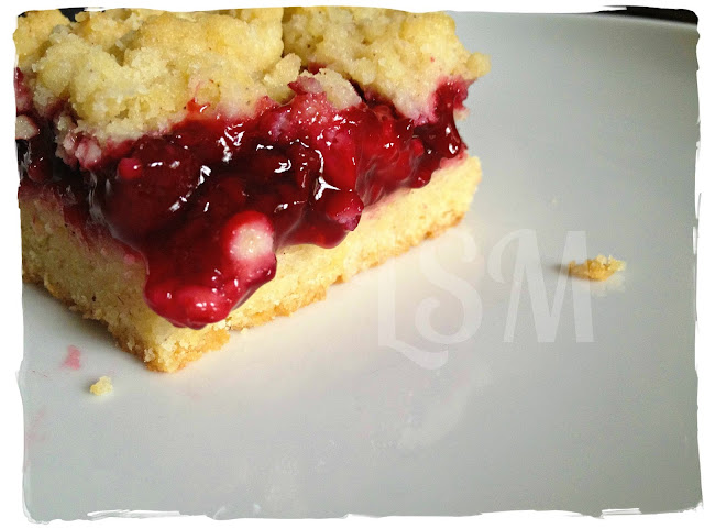 secret recipe club: raspberry crumb bars