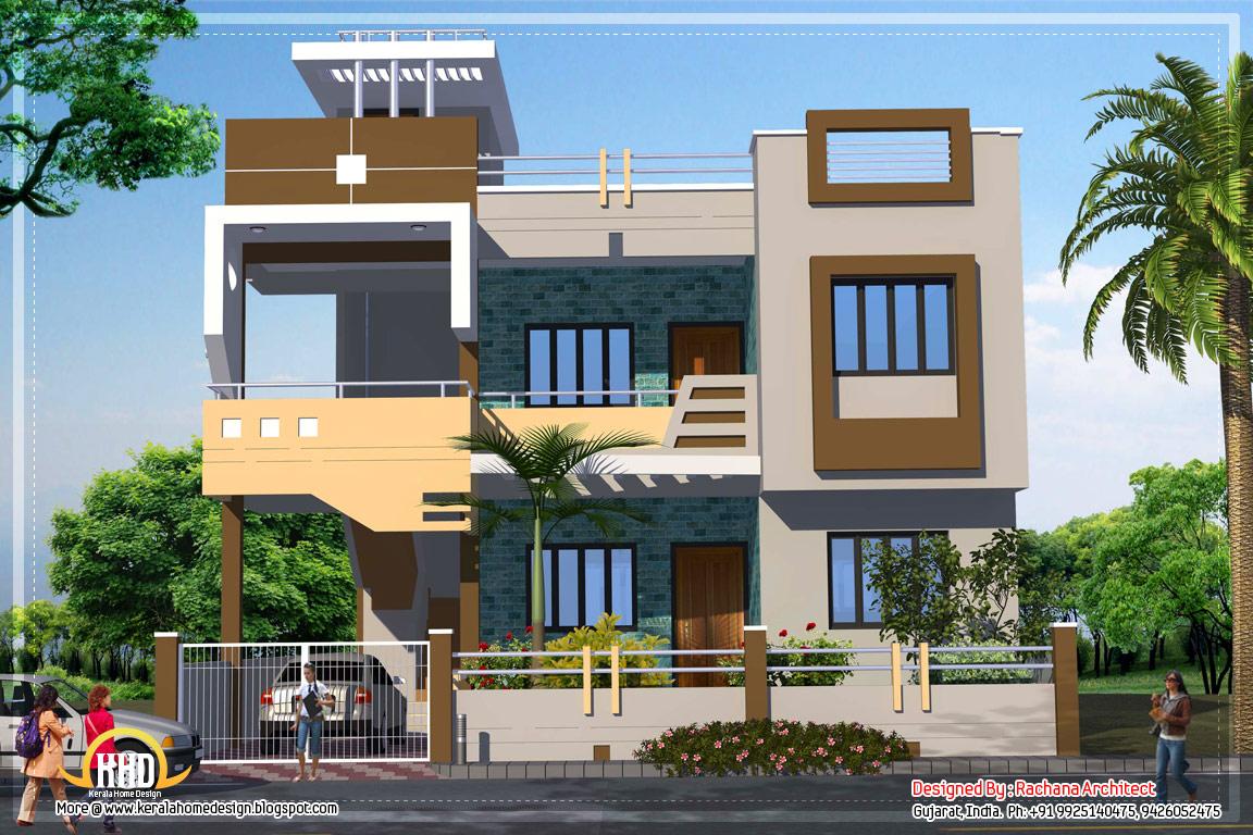 Gambar rumah minimalis 2 lantai for Nice home designs india