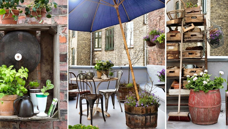 Decoraci n f cil una terraza con elementos reciclados - Decoracion vintage reciclado ...