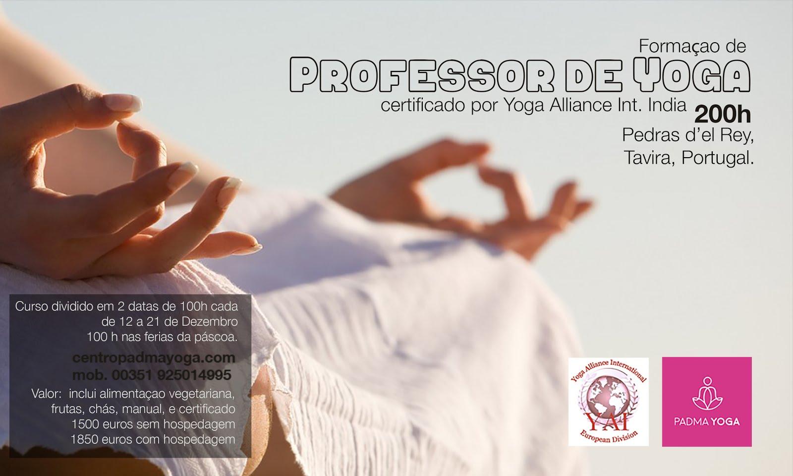Yoga teacher trainning 100h or 200 h in Algarve, Tavira