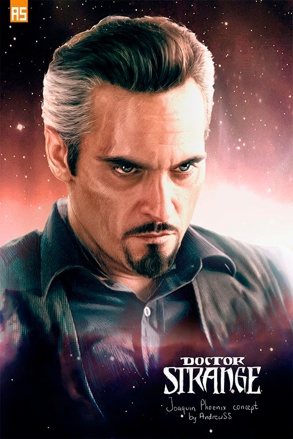 Joaquin Phoenix fan art Dr. Extraño