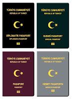 Pasaport Çeşitleri, Pasaport Örnekleri, Umuma Mahsus, Hususi, Diplomatik, Hizmet, Kırmızı, Yeşil Pasaportlar