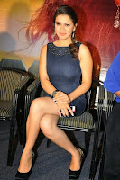Hansika Motwani new Look Slim Trim Figure Tight Short Blue Dress Stunning Pics Must See