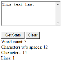 Calculate characters and words