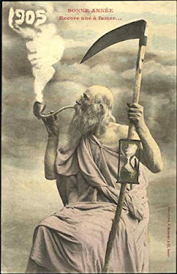 Father Time vintage postcard 1905