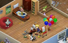 Free otome games virtual families 2 our dream house for Virtual house walkthrough