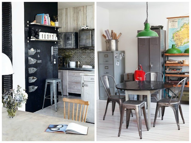 industrial kitchen style, industrial chic decor furniture, industrial dining table