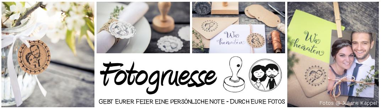 Fotogruesse - personalisierte Fotostempel und Hochzeitsdeko, DIY
