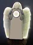Svítící zrcadlo - anděl