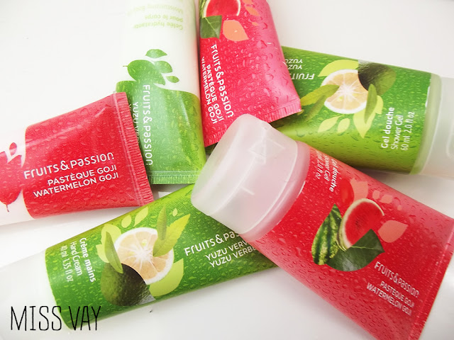 fruits passion bain douche corps yuzu verveine pastèque goji fragrances estivales