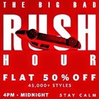 Myntra Rush Hour Sale: Minimum 50% Off on Men's / Women's Clothing & Footwear