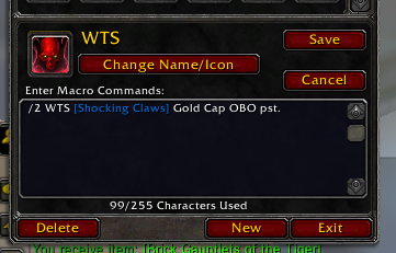 how to create wow macro with item links