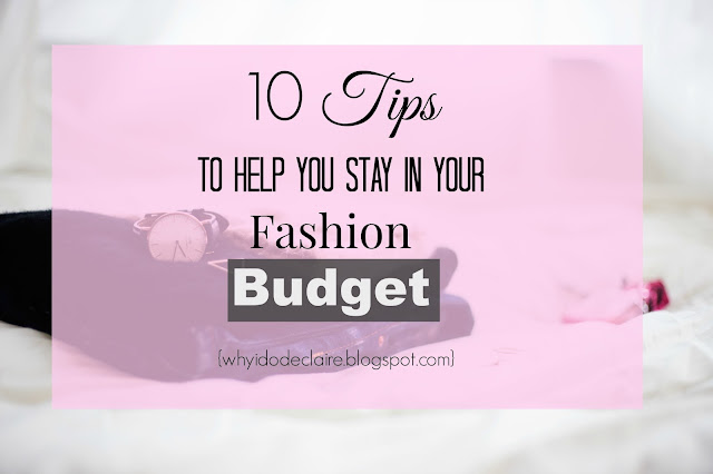 10 tips to stay on your clothing budget