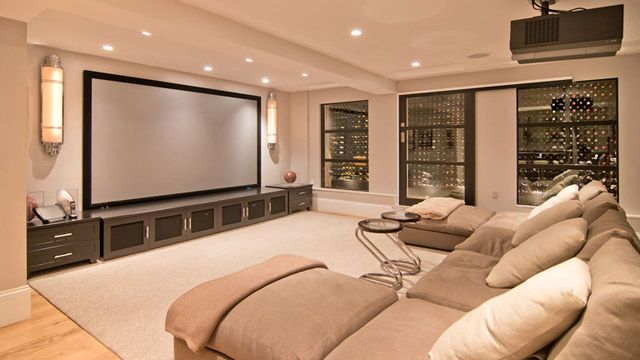 como decorar e integrar a sala de estar e home theater papo de design. Black Bedroom Furniture Sets. Home Design Ideas