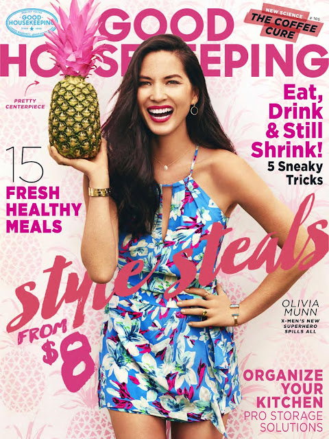 Actress, Model @ Olivia Munn - Good Housekeeping USA, August 2015
