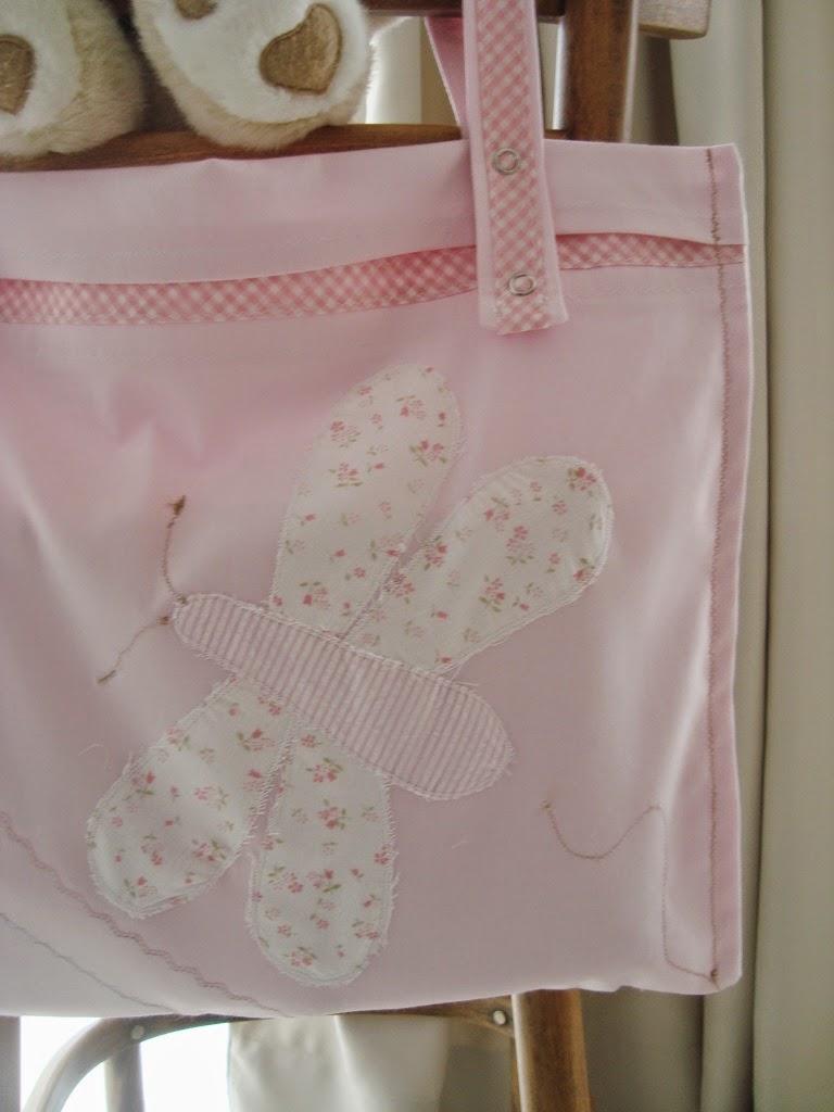Nueva gaia bolsa de tela para colgar en el barral de la cuna for Zapateros tela para colgar