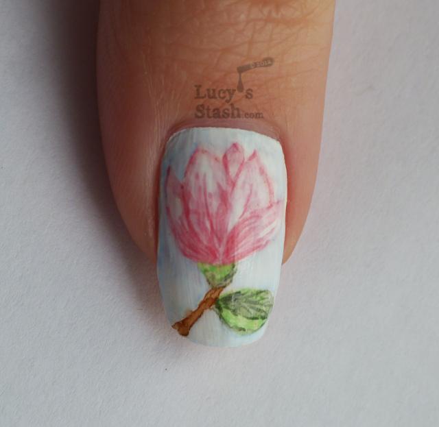 Lucy's Stash - Watercolour (aquarelle) magnolia flowers