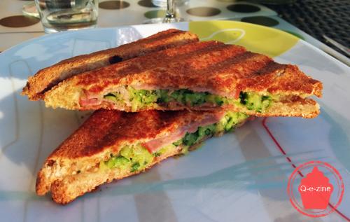croque-monsieur courgettes bacon gruyère