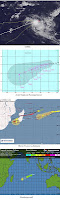 Tropischer Sturm 13 S (potentiell Zyklon HILWA) nimmt sich Zeit mit seiner Entwicklung, Hilwa, aktuell, Satellitenbild Satellitenbilder, Vorhersage Forecast Prognose, Verlauf, Februar, 2012, Mauritius, Indischer Ozean Indik, Zyklonsaison Südwest-Indik,