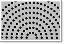 Perforated stainless steel plate with Round Hole: