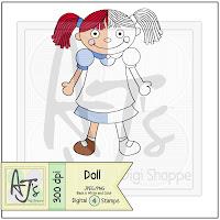 Doll Toy Digital Stamp