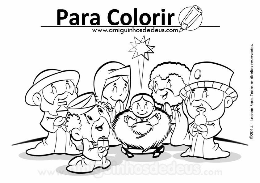 dia de reis desenho para colorir