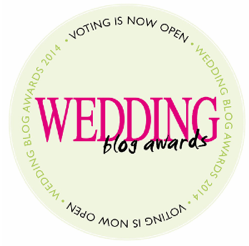 Nominated for Best International Wedding Blogger 2014