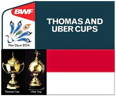 Jadwal Tim Indonesia Di Thomas Uber Cup 2014