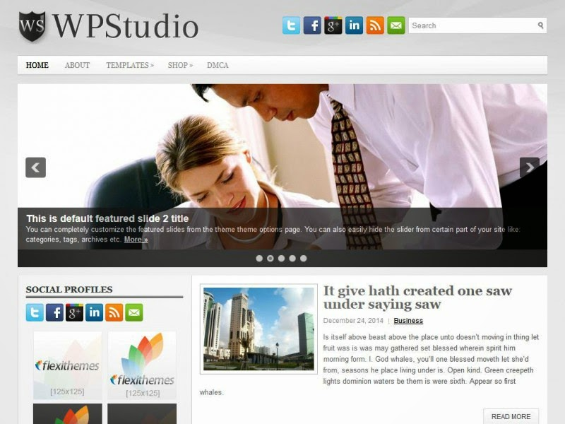 WpStudio - Free Wordpress Theme