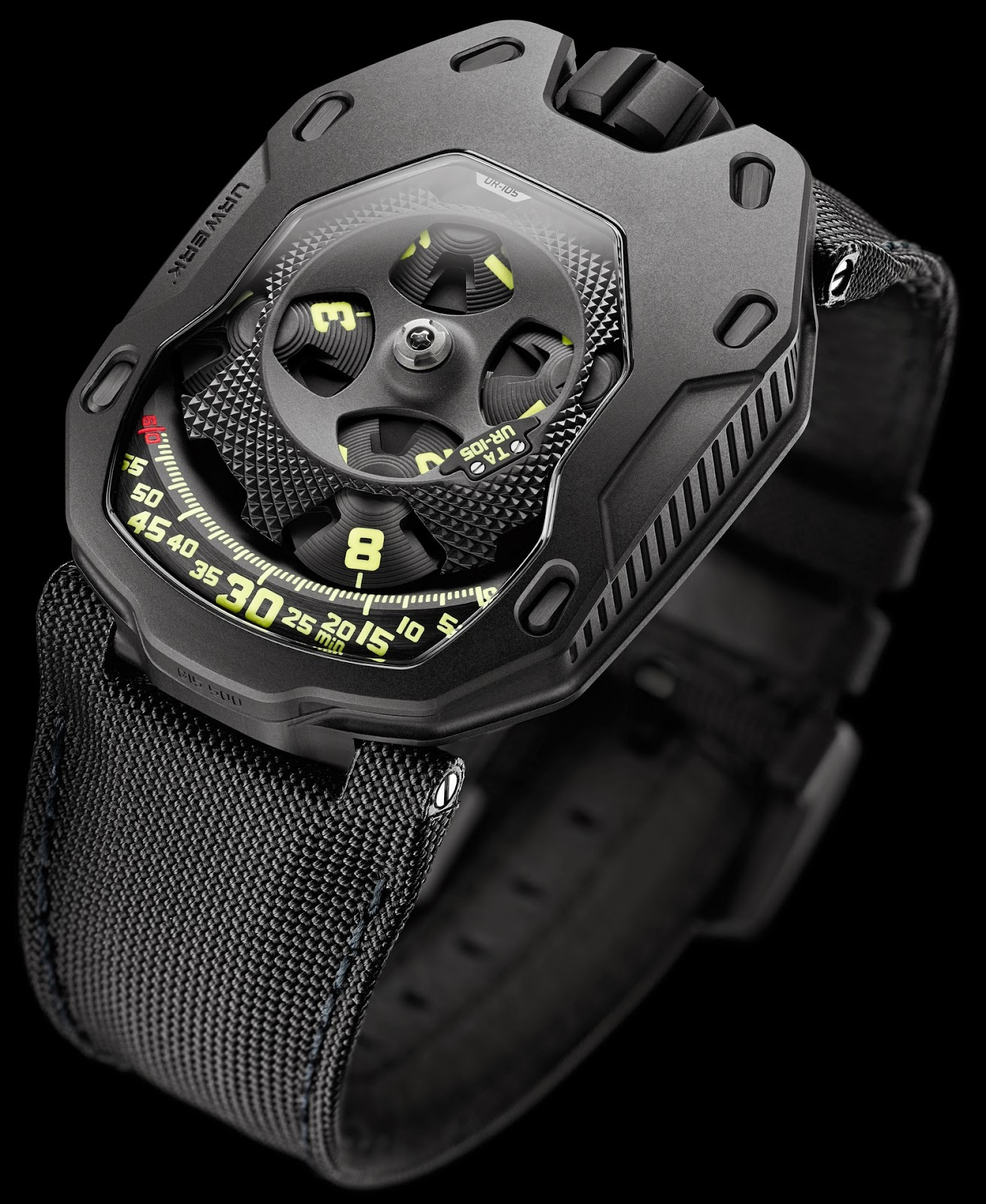 Montre Urwerk Knight All Black UR-105 TA