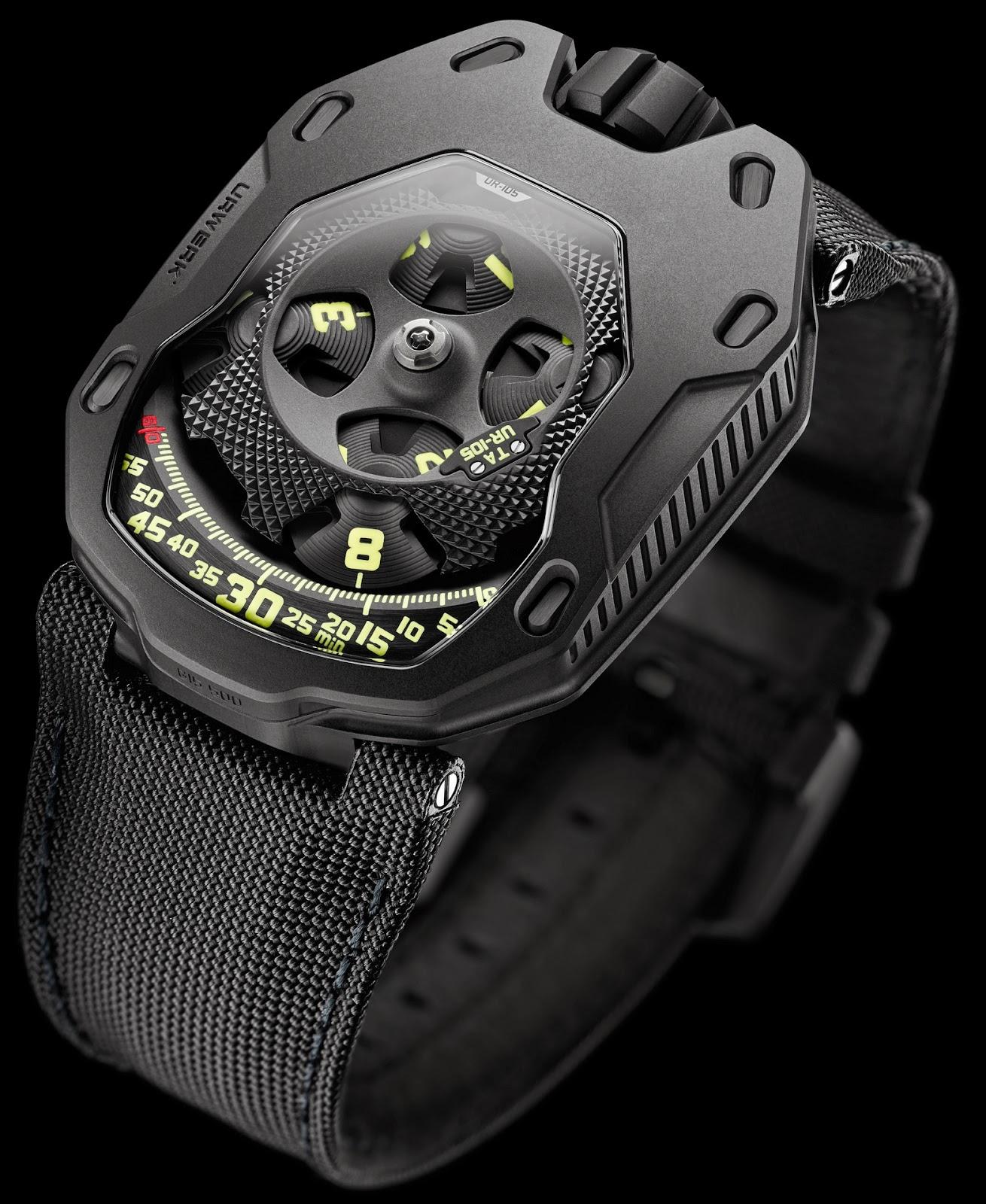 Montre Urwerk Knight All Black UR-105 TA