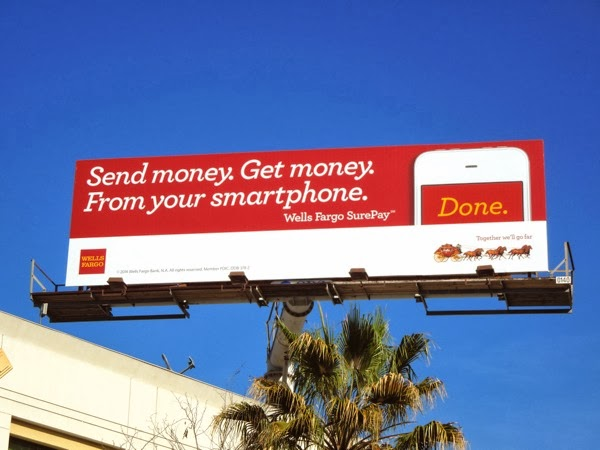 Wells Fargo SurePay billboard