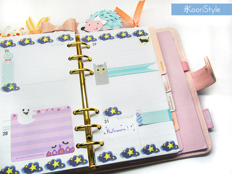 Kawaii, Cute, Koori Style, KooriStyle, Planner, Planning, Stationery, Deco, Decoration, Time Planner, Kikki K, Filofax, Washi, Deco, Tape, Monthly, Weekly, Journal, Agenda, Stickers, Medium, Live Bright, Ring Planner, Halloween, Day of the Dead, Dia de Muertos, Plan With Me, Set Up, プランナー, 플래너