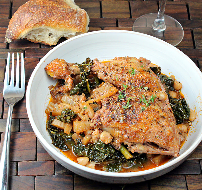 Google's Braised Chicken And Kale Recipe — Dishmaps