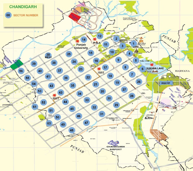 Chandigarh-Map