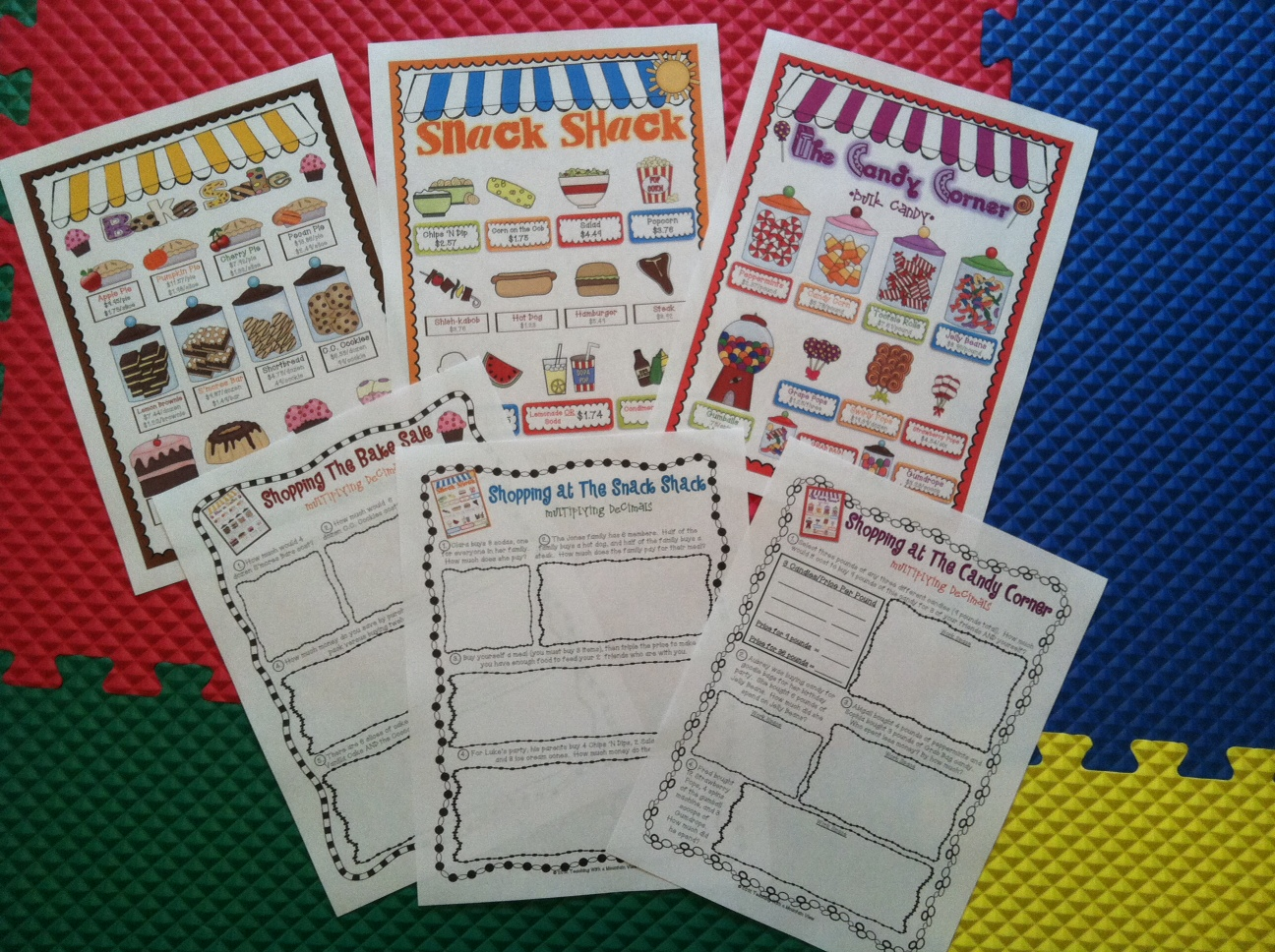 Worksheet Teaching Multiplication Of Decimals teaching with a mountain view multiplying decimals and dividing activity pack