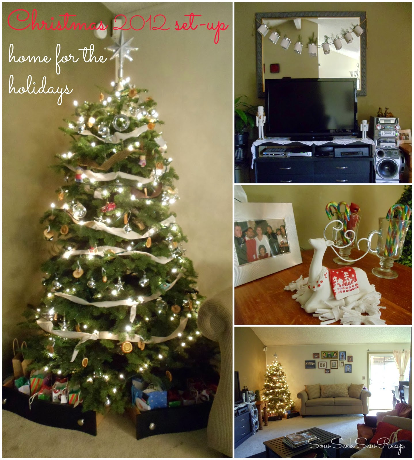 CHRISTMAS SETUP, CHRISTMAS DECOR, CHRISTMAS 2012