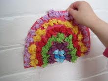 make spring tissue paper rainbows