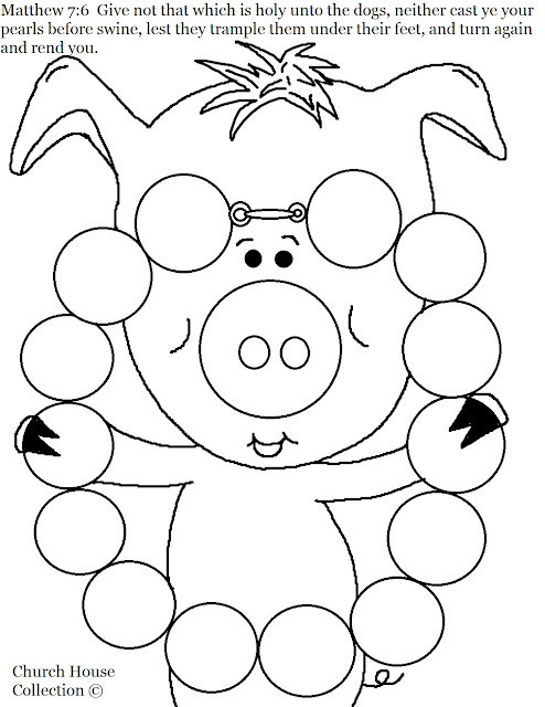 Pearl Necklace Coloring Pages
