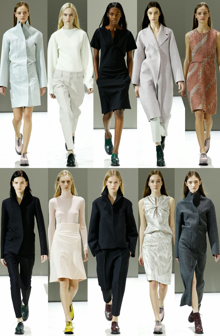 Jil Sander fall winter 2014 runway collection, FW14, AW14, MFW, Milan fashion week