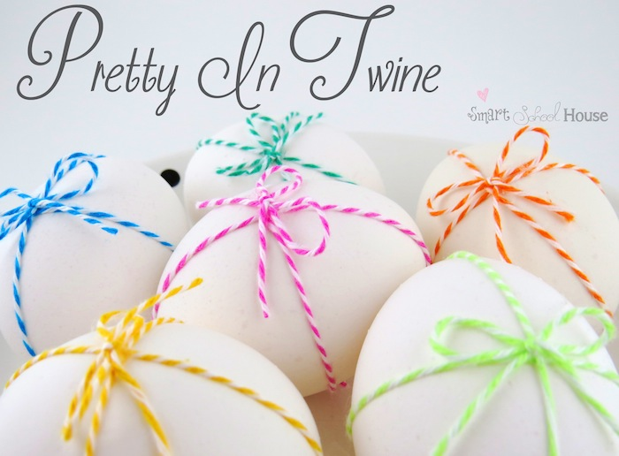 Twine Tied Eggs by Smart School House #Easter