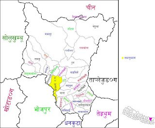 Map of Sankhuwasava District