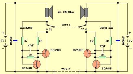 Rangkaian Sederhana Elektronika Interkom