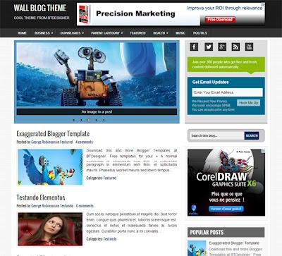 Wall Blog Template on supercooltemplates.blogspot.com
