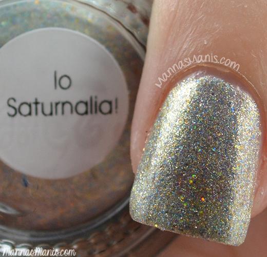 Aliquid Lacquer lo Saturnalia, holographic nail polish