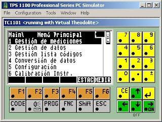 برنامج محاكى لجهازLeica 1200  و 1100 لايكا TPS1100