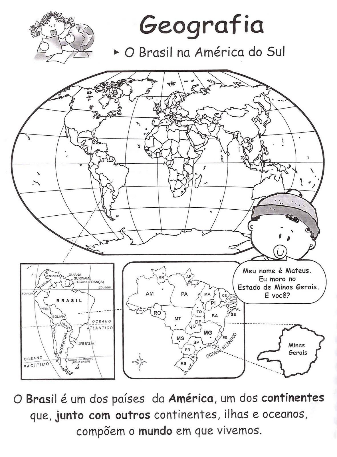 Atividades   O Mapa M  Ndi  Trabalhando   Mapas