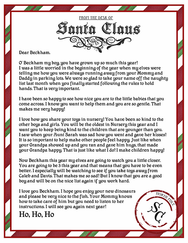 Letter from santa printable then i rolled it up tied it with a ribbon and they are ready to be delivered in their stockings christmas eve i am going to start a binder that i keep spiritdancerdesigns Image collections
