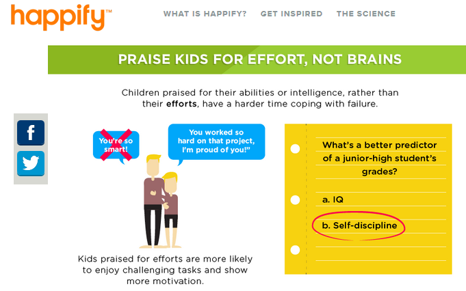happify raising happy kids infograph on onequartermama.ca