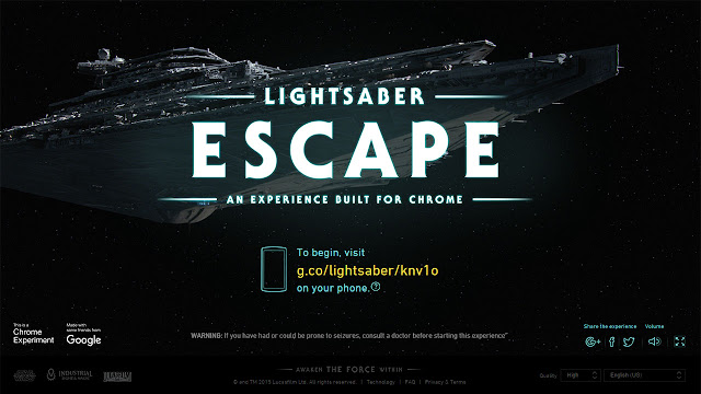 Lightsaber Escape - An experiance built for chrome